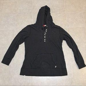 Puma Gray Long Sleeve Hoodie w Buttons Sz XL